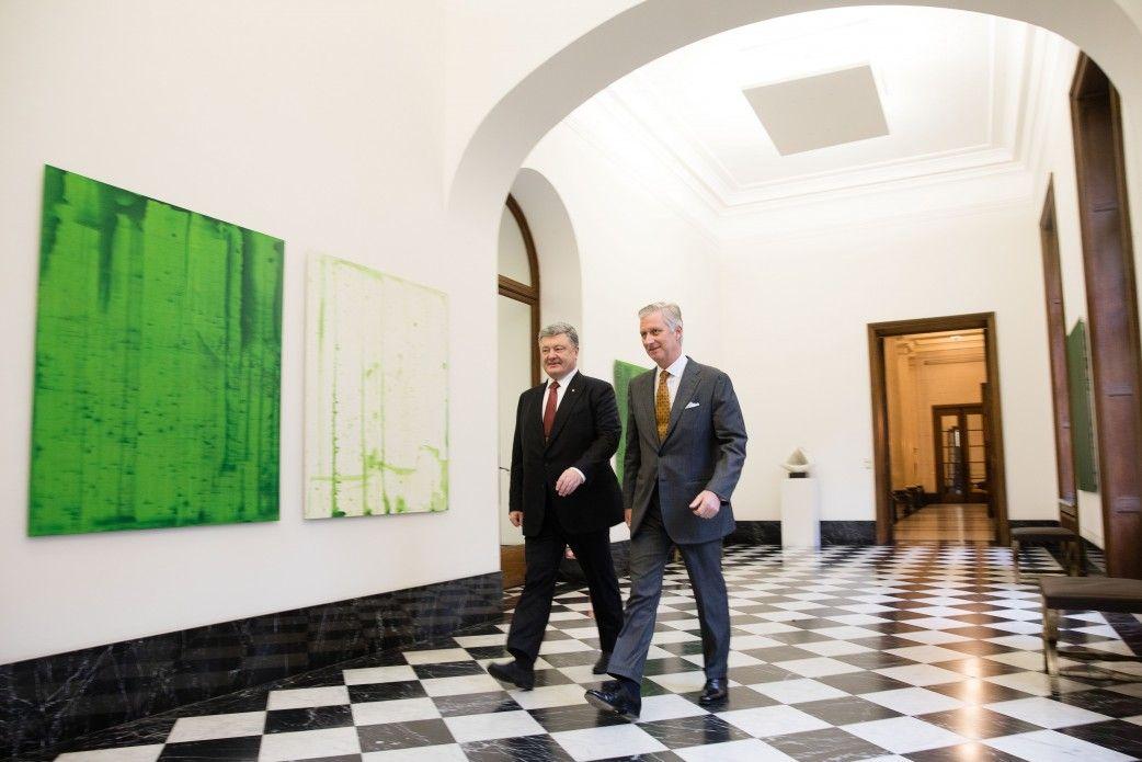 Порошенко і король Філіп / Фото president.gov.ua