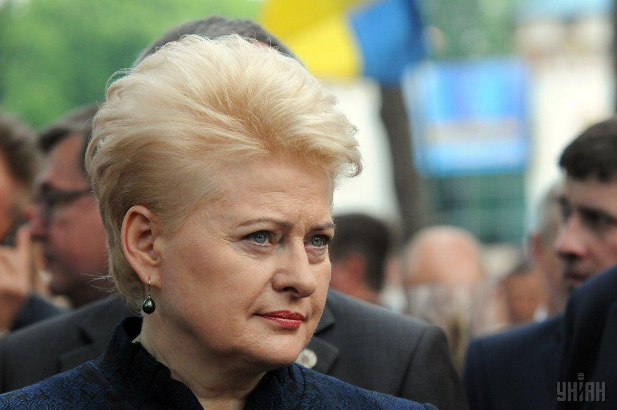 Грібаускайте відреагувала на випад МЗС РФ щодо вшанування активного учасника литовського антирадянського опору / фото УНІАН