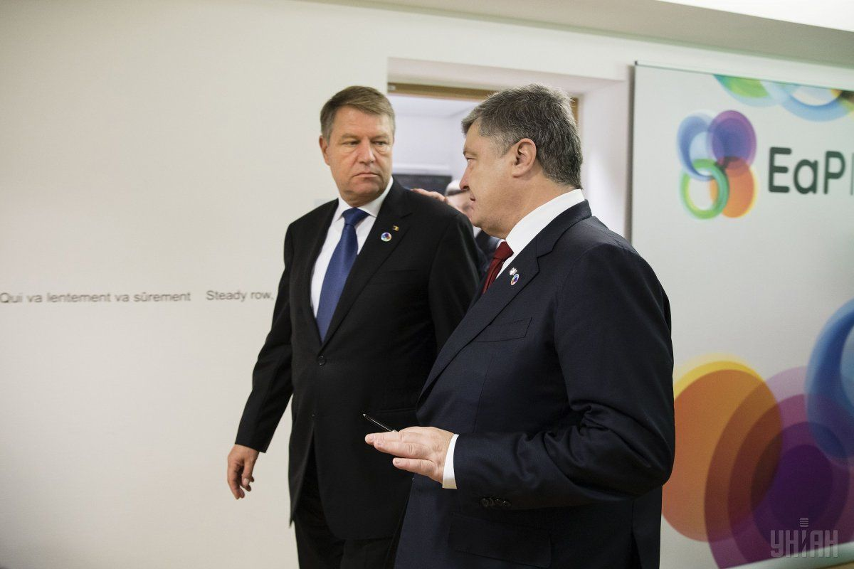 Президент Украины Петр Порошенко во время встречи с румынским президентом Клаусом Йоганнісом / фото УНИАН