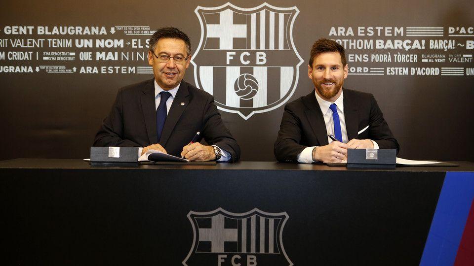 Месси останется с«Барселоной» до 2021-ого года