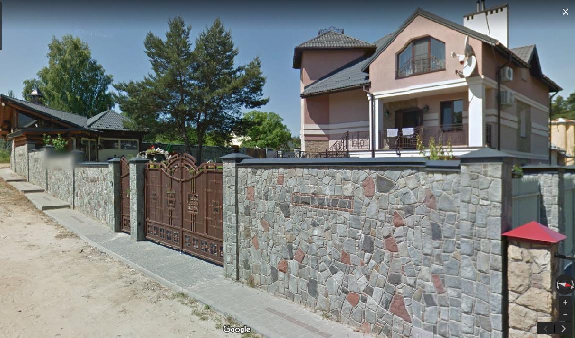 Особняк у селищі Рудне / Скріншот Google Street View via nashigroshi.org