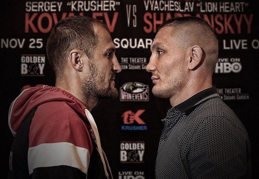 Kovalev (left) – Shabranskyy (right) / Photo from Twitter/David Spagnolo