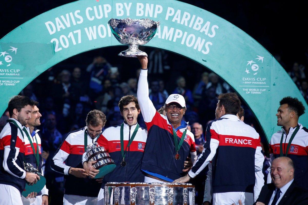 Сборная Франции выиграла Кубок Дэвиса-2017 / Reuters