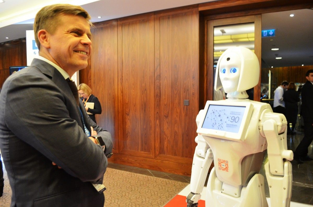 Робот зачитала информацию о Житомир со страницы Википедии / фото zt-rada.gov.ua