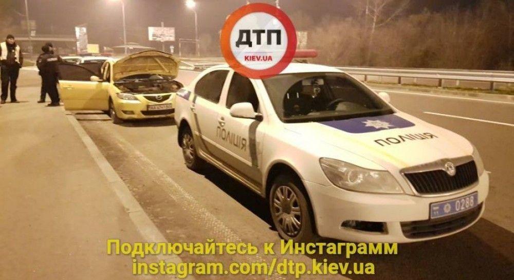 ВКиеве полиция устроила погоню заугонщиком авто