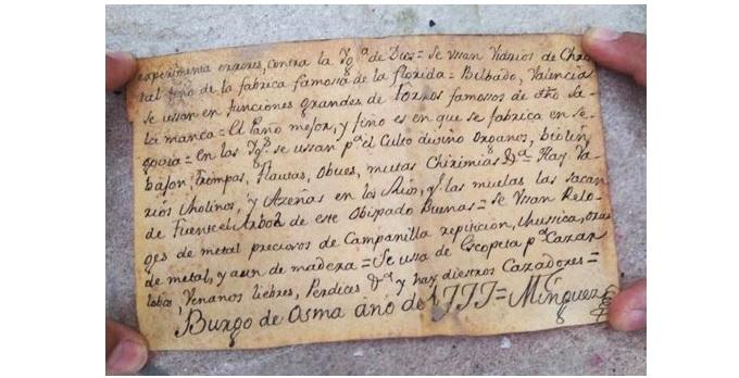 Внутри статуи Христа нашли записку из 1777 года / blagovest-info.ru