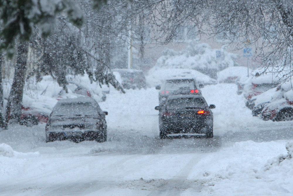 Снігопад паралізував рух у Словаччині / spectator.sme.sk