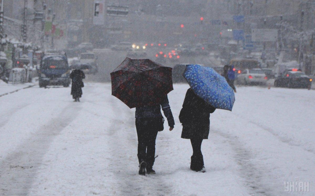 Синоптики прогнозують у Києві до кінця доби сильний мокрий сніг / фото УНІАН