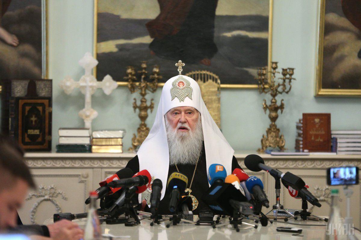 Патріарх Філарет дає брифінг щодо надання автокефалії Україні / Фото УНІАН