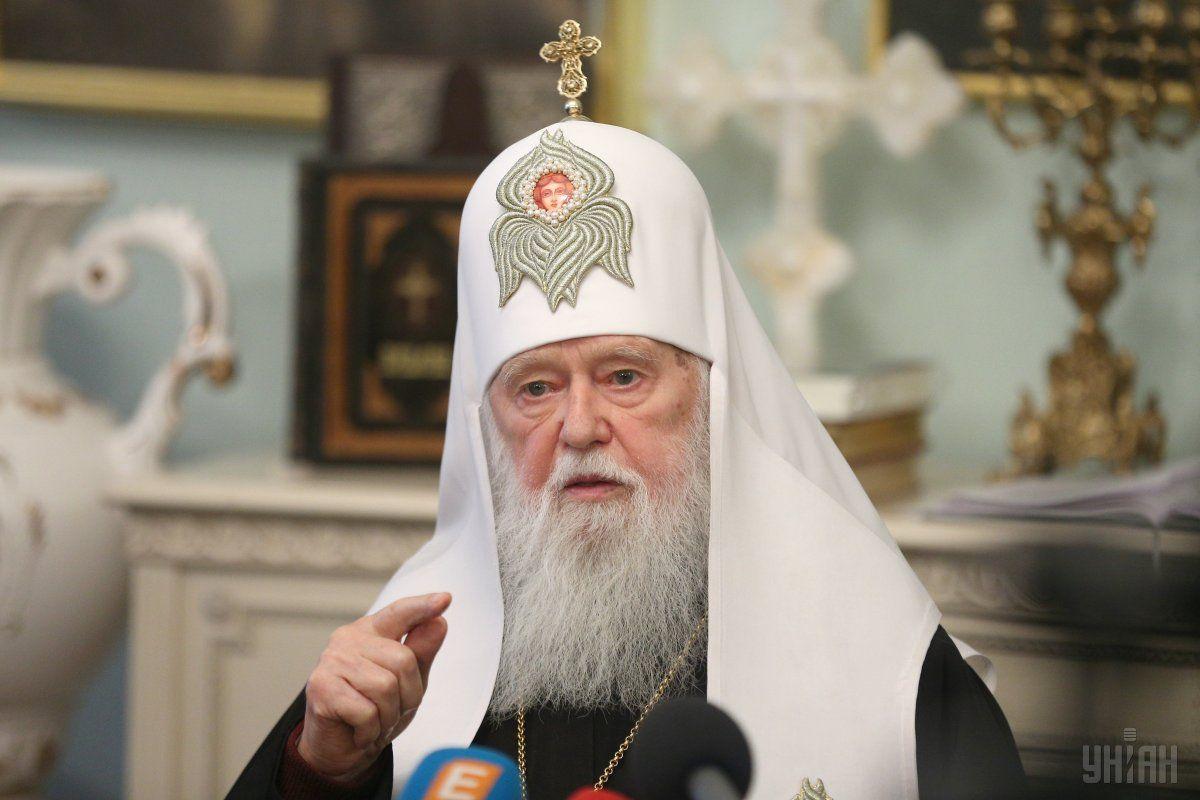 Філарет відкинув звинувачення Московського патріархату щодо політизації церковного життя в Україні \ фото УНІАН
