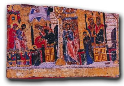 Фрагмент эпистилия. Кон. XII в. Монастырь Ватопед, Афон