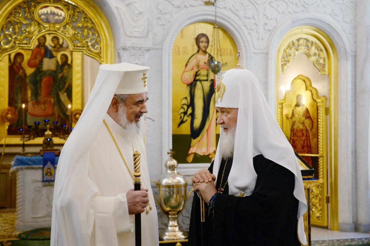 Встреча Святейшего Патриарха Кирилла с Блаженнейшим Патриархом Румынским Даниилом