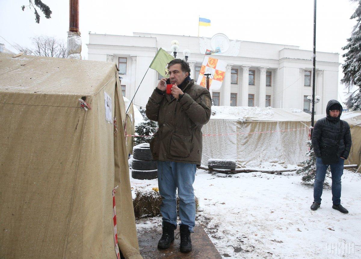 Саакашвили отрицает финансирование олигархами и ФСБ / фото УНИАН