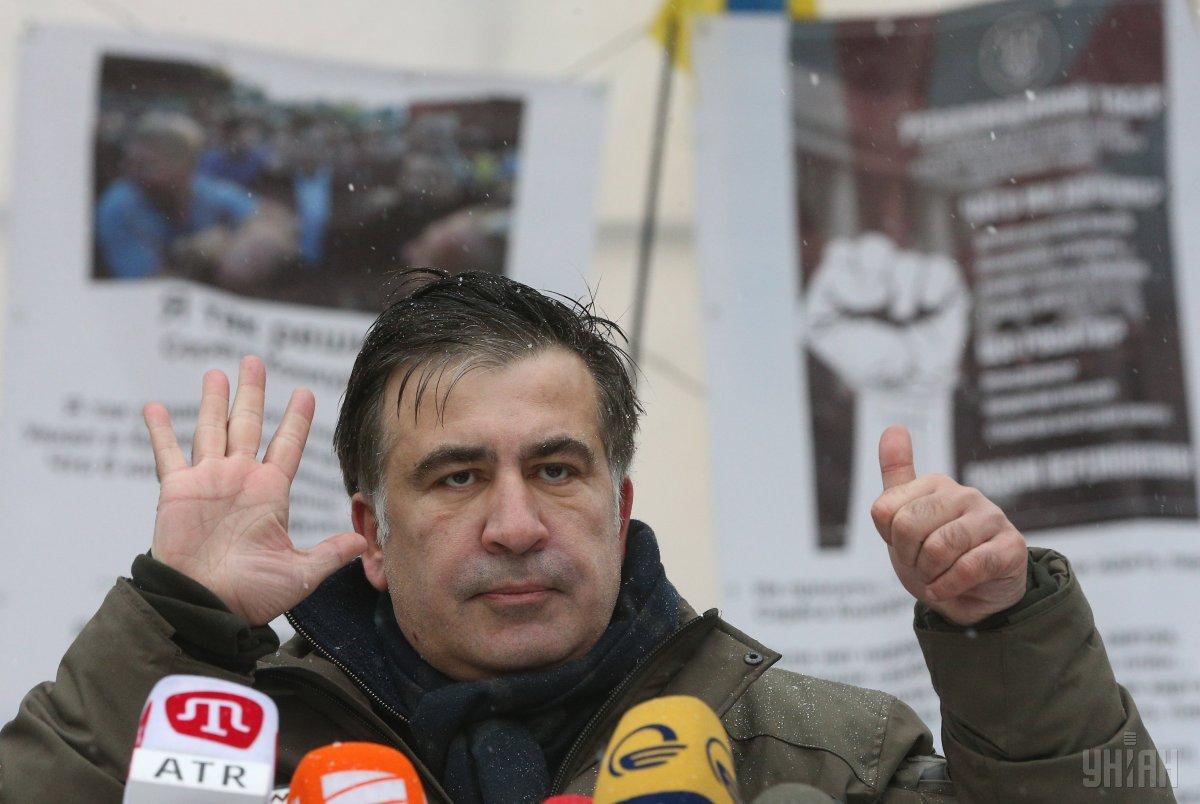 Саакашвили прокомментировал штурм палаточного городка под ВР / фото УНИАН
