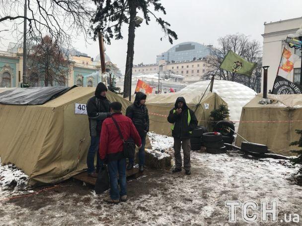 Саакашвили находится в палатке / фото ТСН