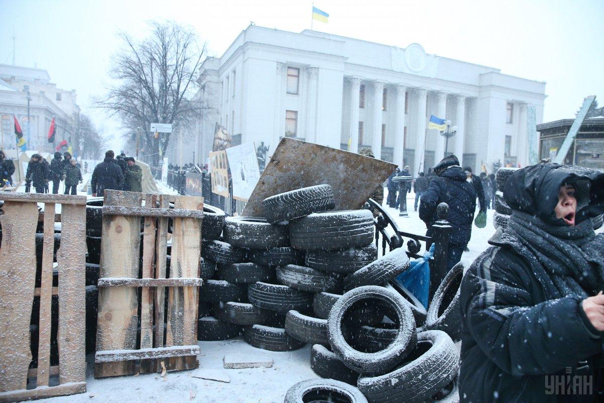 Опальный политик не знает, что будет с палаточным городком / фото УНИАН
