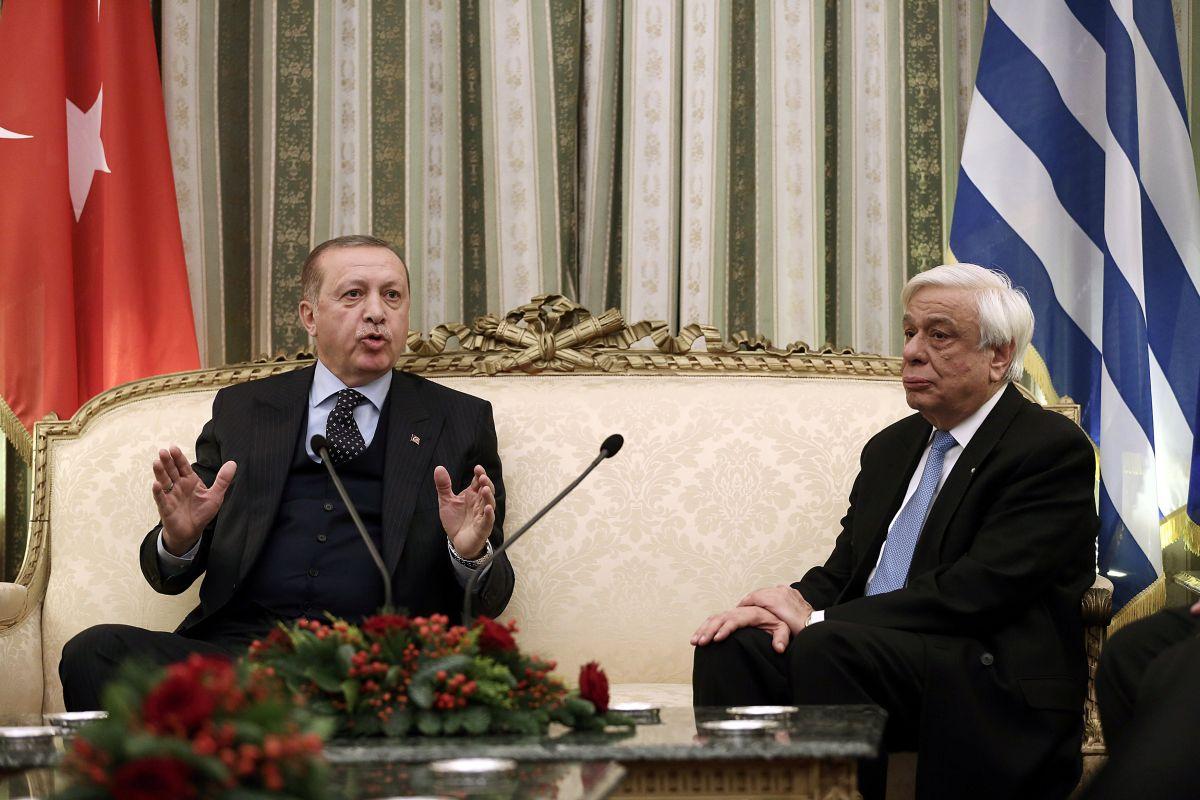 Президенты Турции Реджеп Тайип Эрдоган и Греции Прокопис Павлопулос / REUTERS