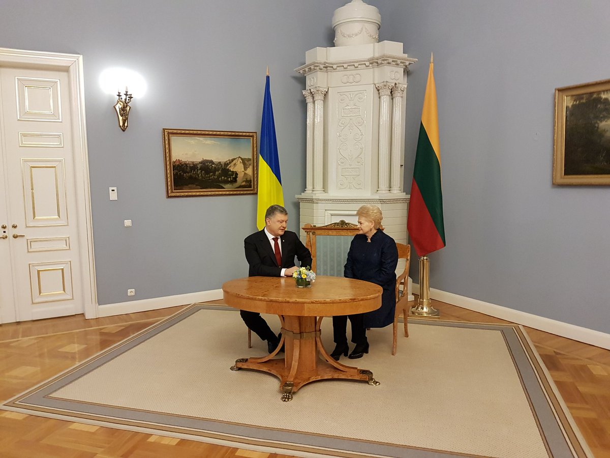 Президент Украины встретился с Грибаускайте / фото twitter.com/STsegolko
