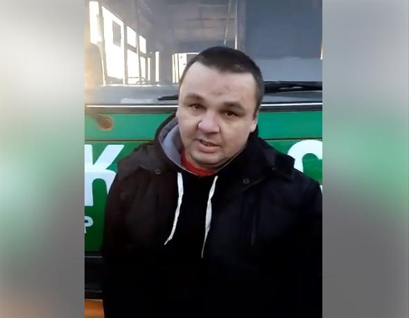 Водій перепросив за свій вчинок / Скріншот