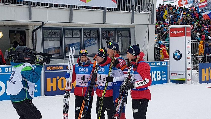 Норвегия - победитель мужской эстафеты / biathlonworld.com
