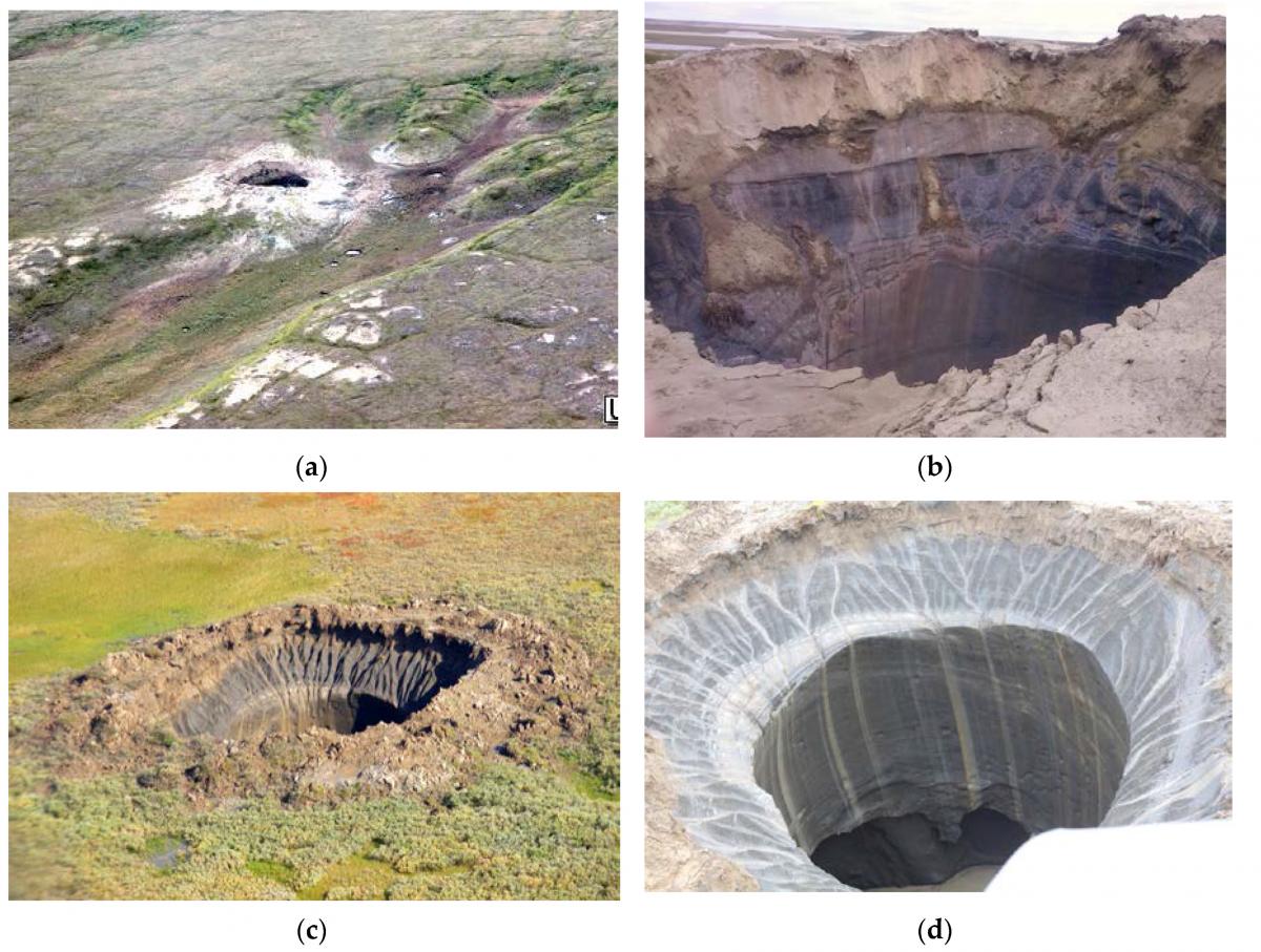 Воронки на Ямале достигают огромных размеров / фото naked-science.ru