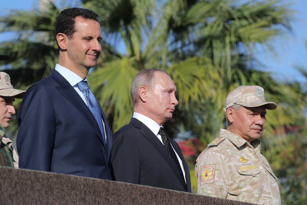 Башар Асад, Владимир Путин, Сергей Шойгу / REUTERS