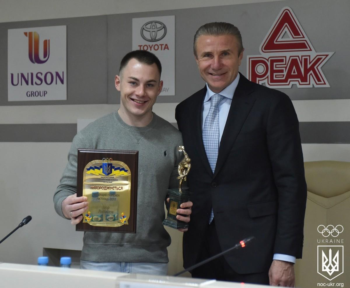 Игорь Радивилов во второй раз подряд стал спортсменом месяца в Украине / noc-ukr.org