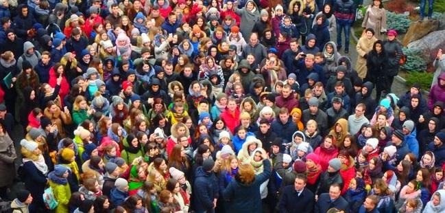 В Виннице полтысячи хористов исполнили