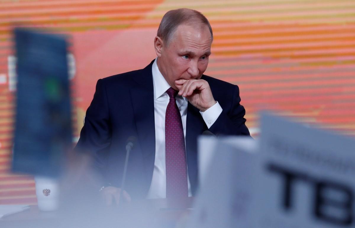 Владимир Путин на пресс-конференции / фото REUTERS