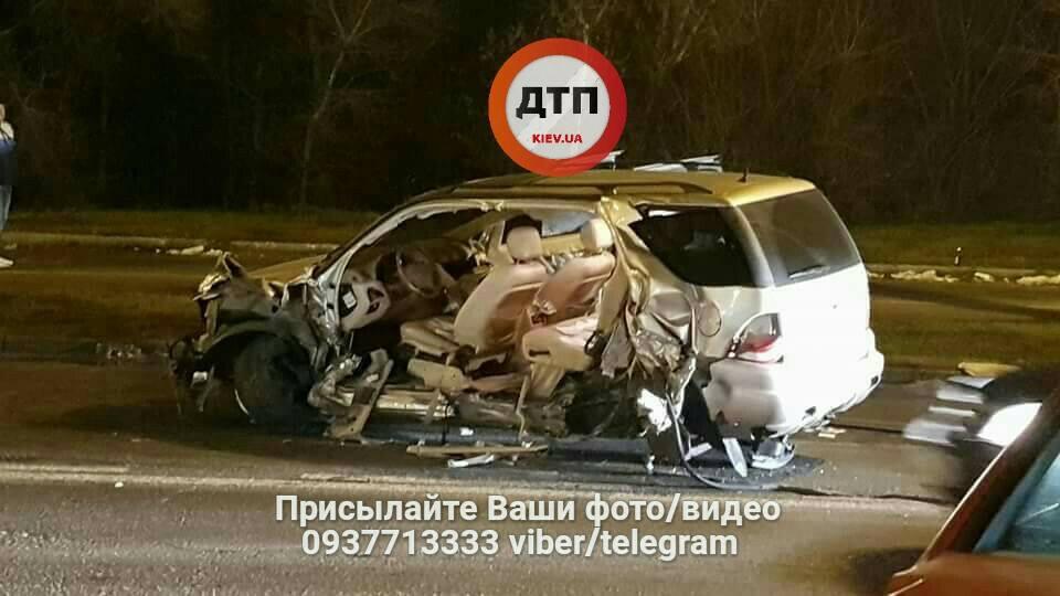 ВКиеве случилось крупная авария, пострадали два человека