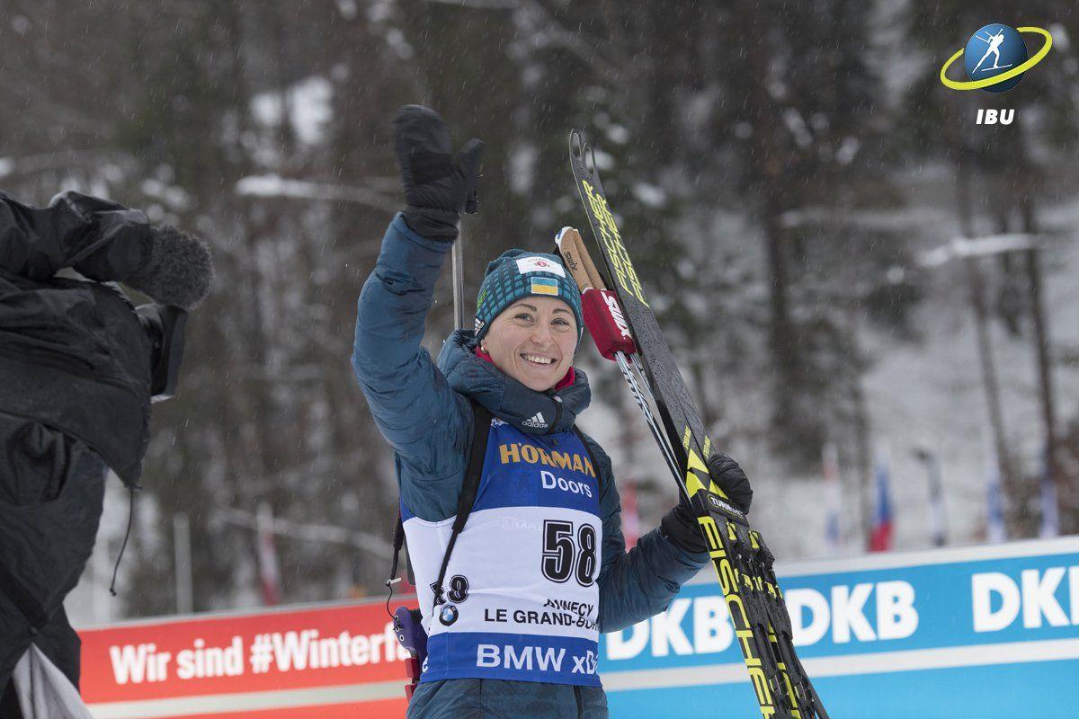 Вита Семеренко завоевала бронзу на этапе Кубка мира по биатлону в Оберхофе