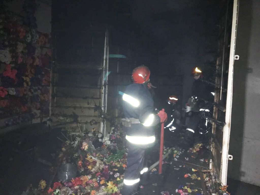ВХмельницком произошел пожар навещевом рынке Привоз