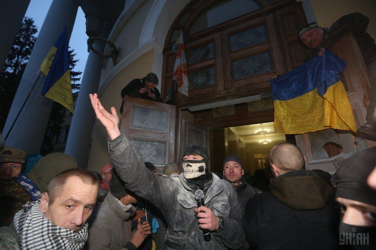Штурм Жовтневого палацу 17 грудня / REUTERS