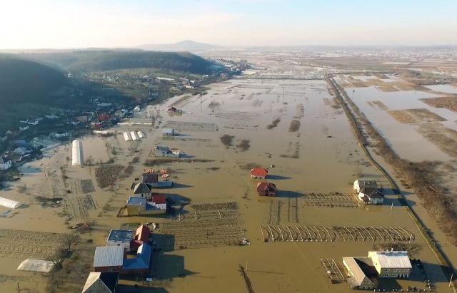 Місцевий житель зняв підтоплені села Вільхівка та Комяти / фото Mukachevo.net