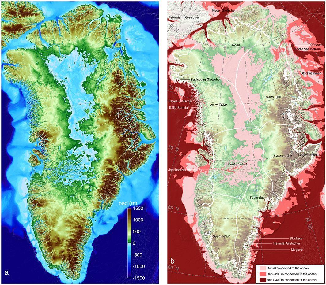 Гренландия имеет изрезанную береговую линию с глубокими фьордами и длинными заливами / фото onlinelibrary.wiley.com