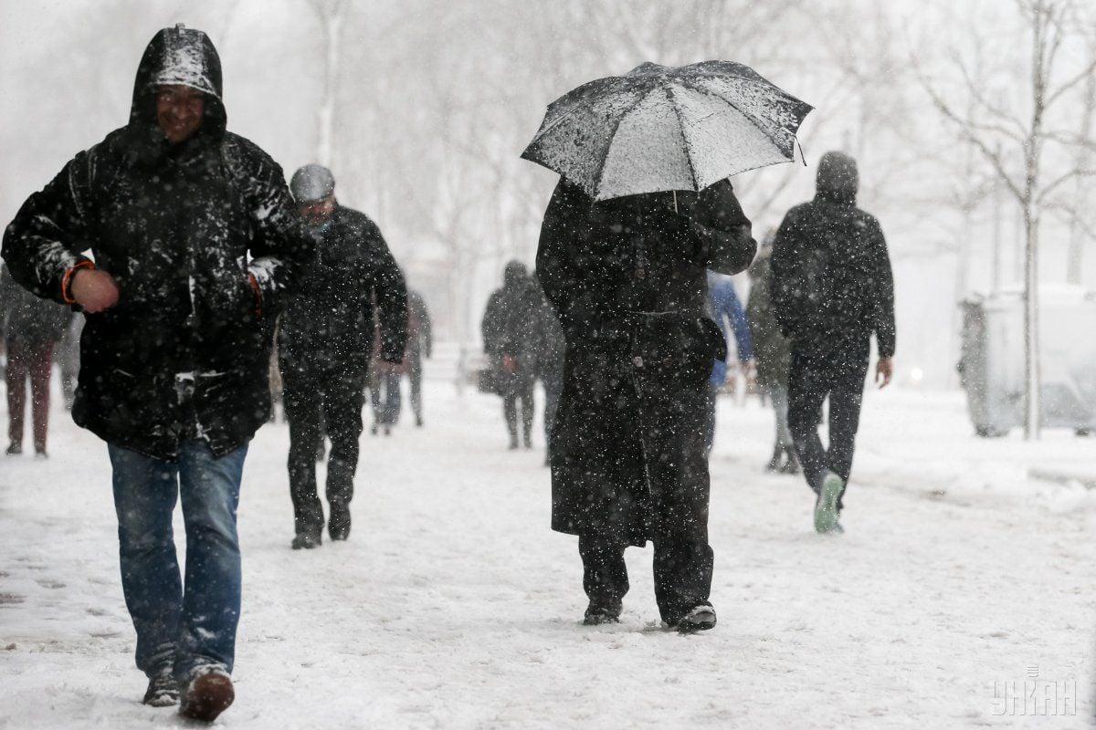 В Україну йдуть хуртовини і дощі / фото УНІАН