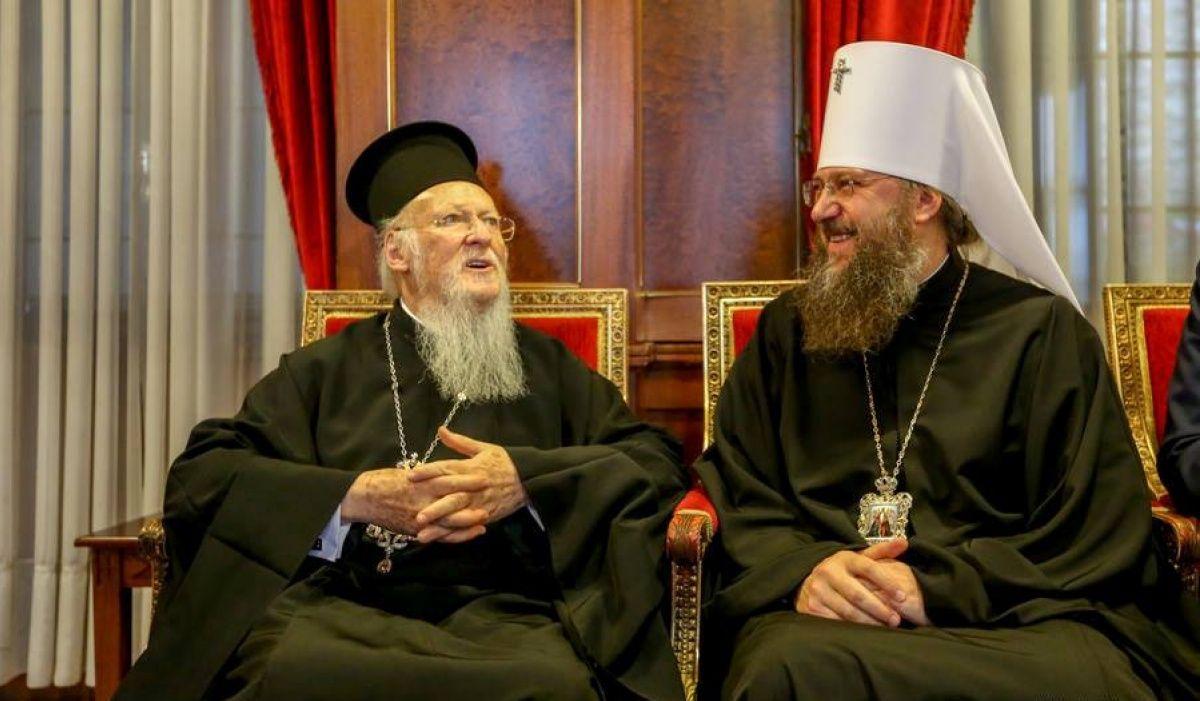 Митрополит Антоній зустрівся з Патріархом Константинопольським Варфоломієм / news.church.ua