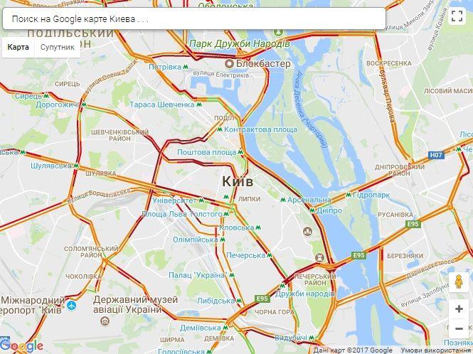Киев стоит в пробках / фото infoportal.kiev.ua