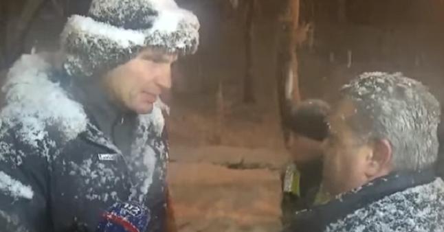 Засутки выпала практически полумесячная норма— Снегопад вКиеве