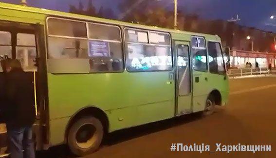 ДТП вХарькове: нетрезвый мужчина угнал маршрутку иврезался вавто