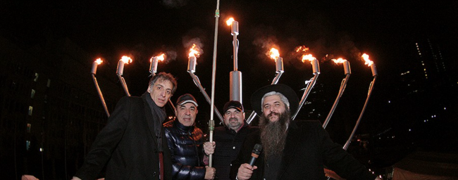Запалення Центральної Ханукии України в 2015 році / sinagoga.kiev.ua