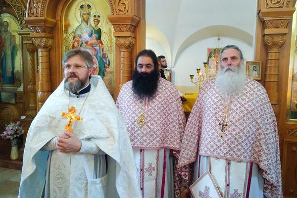 На совместной литургии с гостями из Греции / Facebook