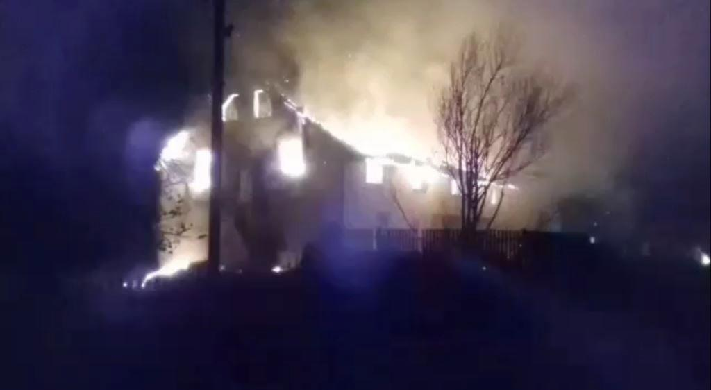 Пожар на территории церкви ЕХБ на Волыни / baptyst.com