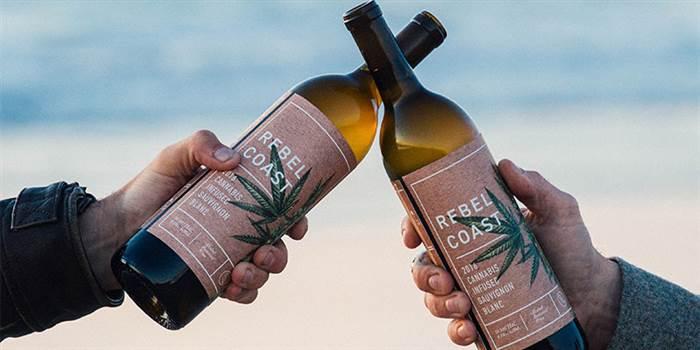 В Калифорнии изобрели вино из каннабиса / Rebel Coast Winery