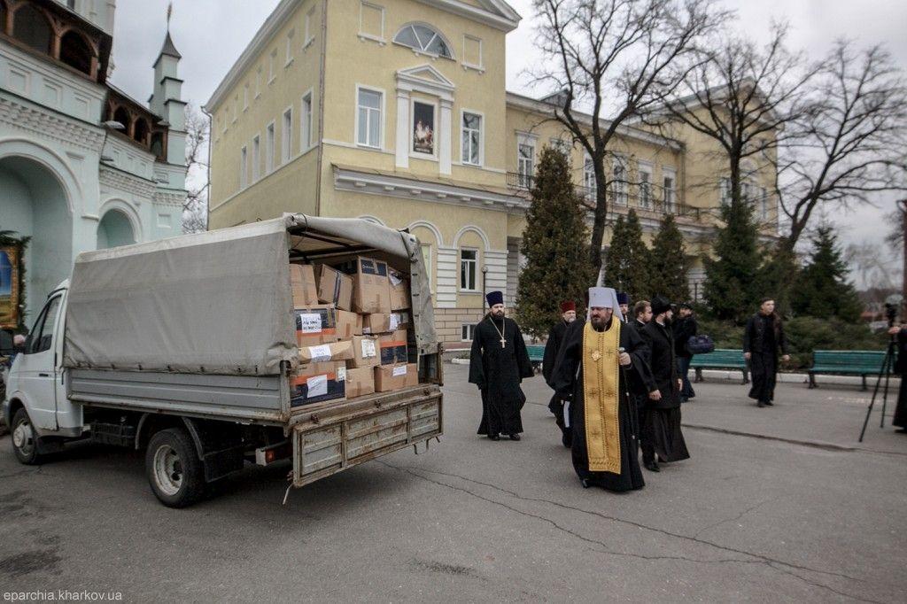 Клірики УПЦ продовжують опікуватися українськими військовослужбовцями й мирним населенням Донбасу / Харківська єпархія УПЦ