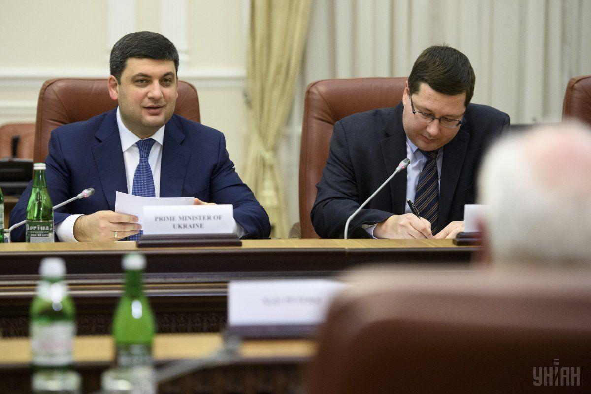 Станислав Ежов рядом с премьер-министром Украины Владимиром Гройсманом / фото УНИАН