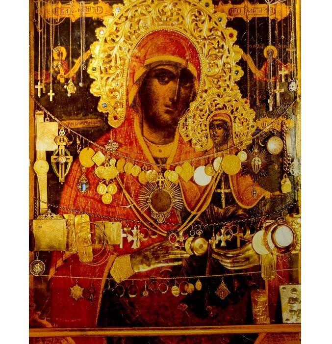 Икона святой праведной Анны, скит Святой Анны, Афон / athos-ukraine.com.