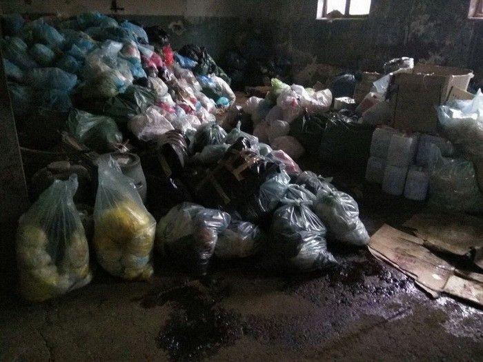 Правоохранители обнаружили 2,5 тонны использованного медицинского инструмента / фото ssu.gov.ua