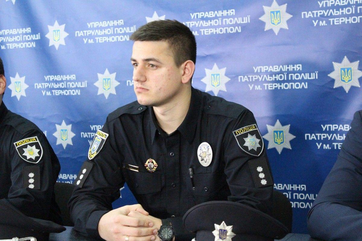 Богдан Шевчук фото прес-служба патрульної поліції