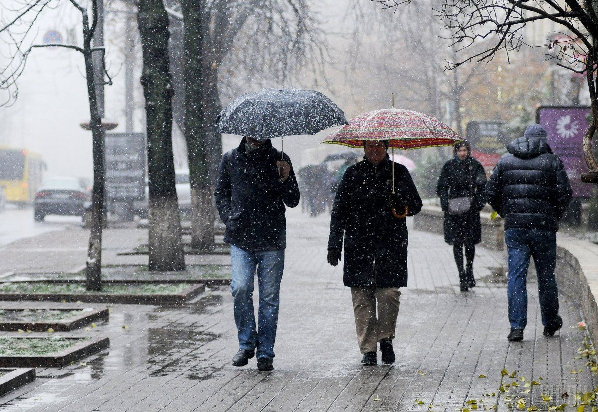 В Украине сегодня пройдет мокрый снег / УНИАН